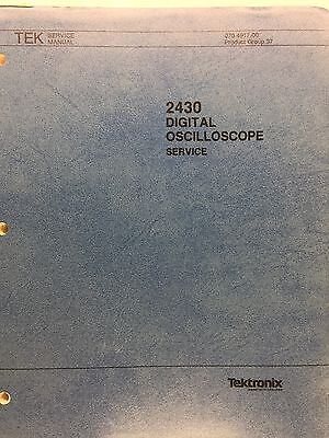 Tektronix 2430 Digital Oscilloscope Service Manual Pn 070-4917-00