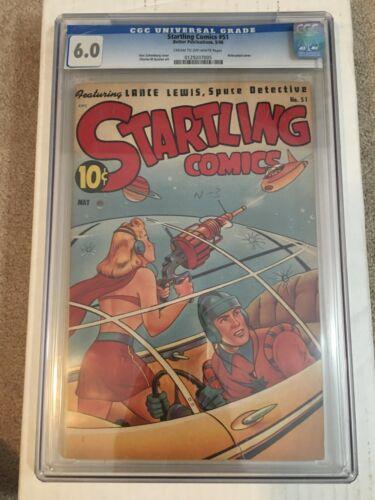 STARTLING COMICS #51  Classic Schomburg airbrushed cover! CGC 6.0!