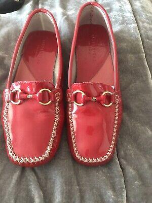 Hispanitas Red Patent Leather Loafer Size 38 (UK 5)