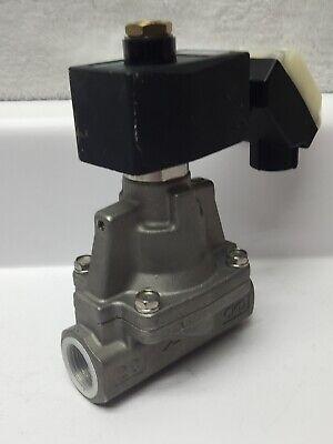 Ckd Ap12-20a-d3h Stainless Steel 2 Port Solenoid Valve No Water Air Kerosene 24v