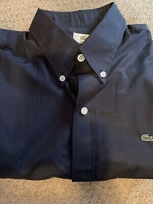 LaCoste Charcoal Gray Long Sleeve Shirt Size 42