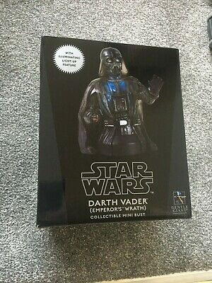 Star Wars Gentle Giant Darth Vader Emperors wrath mini bust light up