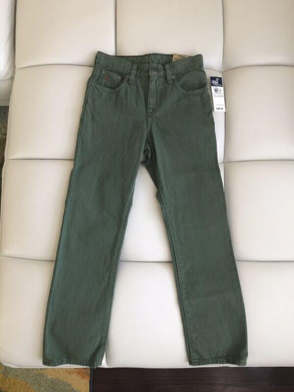 Polo Ralph Lauren Boys Cotton 5-pocket Adjustable Skinny Jeans Size 7 NWT