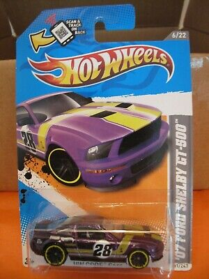 2012 HOT WHEELS / '07 Ford Mustang Shelby GT 500 / purple / code car / #231