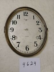 ANTIQUE GILBERT TAMBOUR MANTLE  CLOCK OVAL SHAPED DIAL AND BEZEL NO GLASS