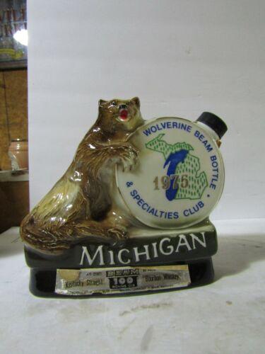 Jim Beam Michigan Wolverine Decanter