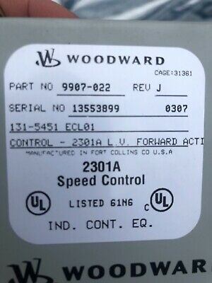 Used Woodward 9907-022 Speed Control 2301a 131-5451 1315451