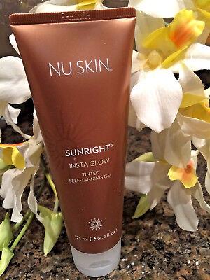 Nu Skin nuskin Sunright Insta Glow Tinted Self-Tanning Gel For Face&Body- 4.2 0z