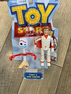 Toy Story 4 DUKE CABOOM and FORKY Disney Pixar Action Figures Mattel 2019 NIB