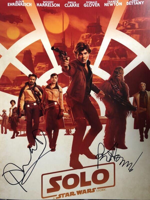 Phoebe Waller-Bridge/Ron Howard Signed Solo: Star Wars Story 14x11 Photo AFTAL