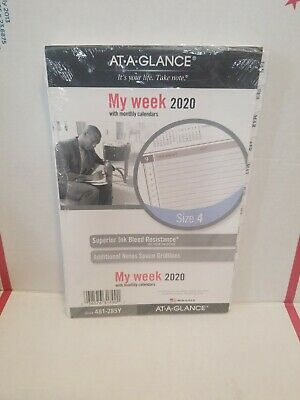 At-a-glance 2020 Weekly Monthly Planner Refill Day Runner 5-12 X 8-12