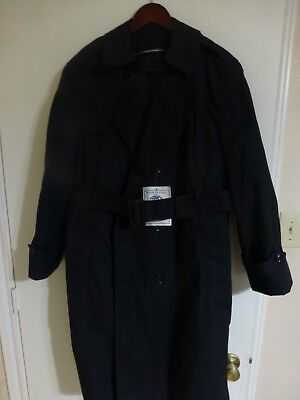 US MILITARY BLACK ALL WEATHER TRENCH COATS W/LINER- NEW W/TAGS-MENS & (All Weather Trench Coat)