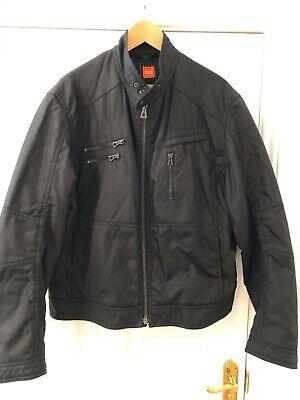 Hugo Boss Orange Men's Biker Style Jacket Dark Blue Size 54 UK 42/44 for sale  Shipping to Nigeria