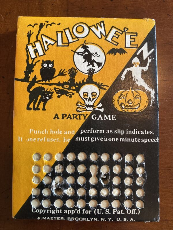 Vintage Halloween Punch Hole Party Game 1920-30