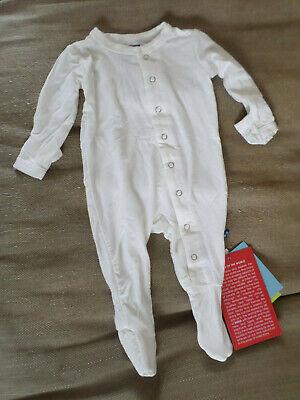 New Newborn Baby Kickee Pants Cream Natural Romper Basic Footie  RRP:US$33