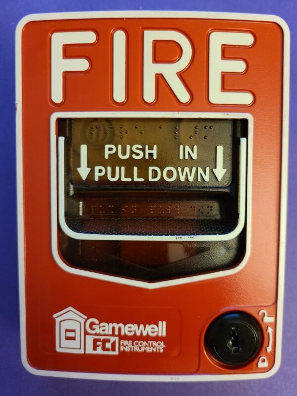HONEYWELL GAMEWELL FCI MS-7AF MANUAL FIRE ALARM PULL STATION