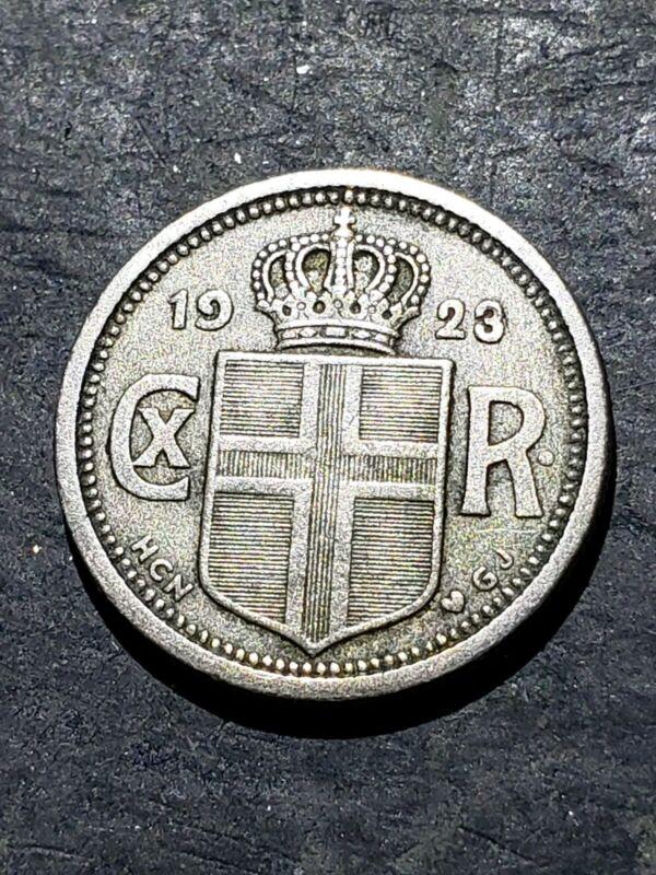 1923 ICELAND 25 AURAR Coin #12