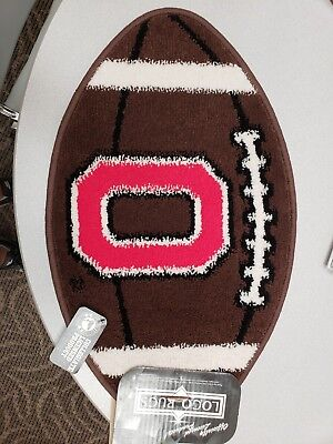Collegiate Football Rug Ohio State by Logo Rug