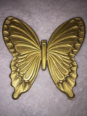 vintage 1971 HOMCO gold BUTTERFLY Wall Art decor USA T7040 T7041 retro