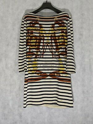 Hermes Brides de Gala Vintage Breton Stripe Shirt Dress Medium