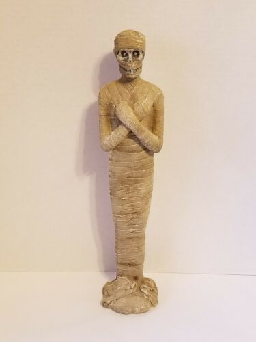 HALLOWEEN STATUE EGYPTIAN MUMMY LED EYES LIGHT UP 16""