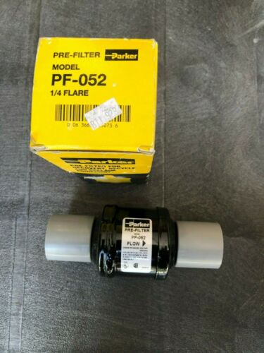 """Parker PF-052 1/4"""" Flare Recovery Recycle Line Pre-Filter"""