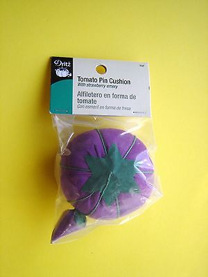 Dritz Purple Tomato Pin Cushion - 2 3/4 inch diameter
