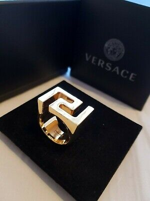 Versace Greca Gold Ring Excellent Condition (Worn Once) RRP £200