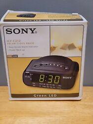 Sony Dream Machine ICF-C212 AM FM Alarm Digital Clock Radio Black (NEW)
