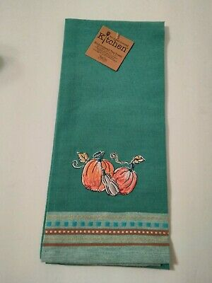 Set Of 2 Kay Dee Designs Fall Embroidered Kitchen Tea Dish Towels