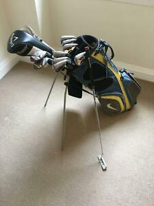 Sold - Full Set of Callaway X Hot Golf Clubs with Nike Bag