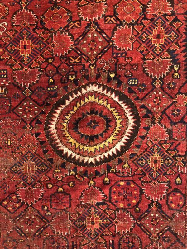 Vintage Afghan Rug - Circa 1880s Tribal Gallery Turkmen 6.3 X 14.1