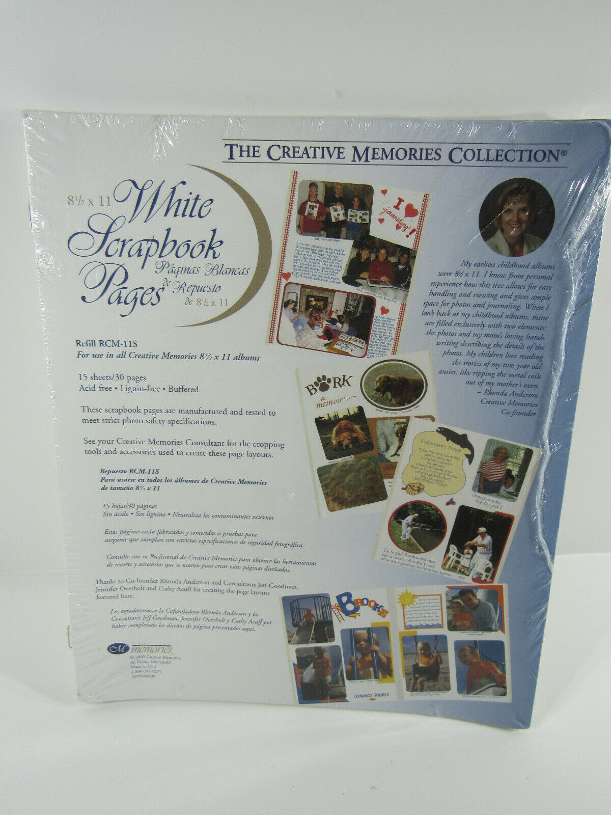 New Creative Memories 8 1/2 X 11 Sealed White Scrapbook Pages 2002 15 Sheets - $21.00