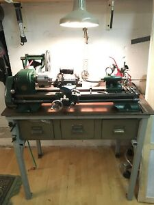 Atlas metal lathe 618 with table