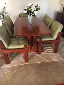 Bargain!! Jarrah dining table, wall units, buffet, leather lounge Wadalba Wyong Area Preview