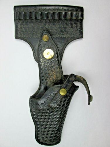 Vintage Leather Swivel Safety Speed Belt Holster 12 Cartridge Holder BROKEN SNAP