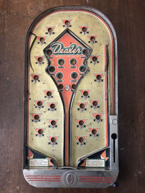 1930s Bagatelle Pachinko Pinball Dealer Joseph Schneider