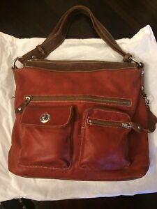 Roots - Large St. Tropez in Tribe Leather & Deep Orange