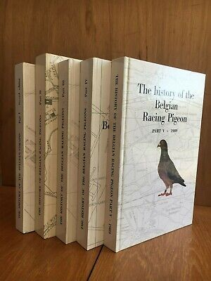 History of Belgian RACING PIGEON PIGEONS by Jules Gallez in 5 Volumes RARE