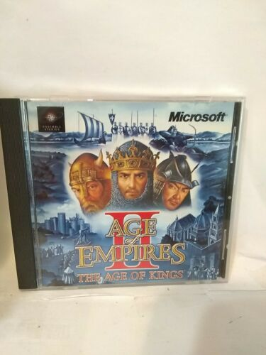Computer Games - Age of Empires II 2: The Age of Kings 1999 PC Middle Age Computer Game Strategy