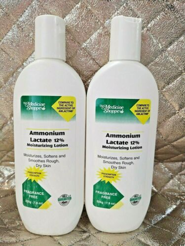 2 Medicine Shoppe Ammonium Lactate 12% Moisturizing Lotion Body Dry Skin 7.9 oz