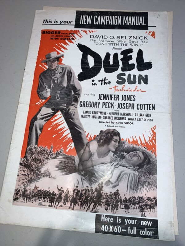 Duel in the Sun starring Gregory Peck 1954 Movie Release Press Kit