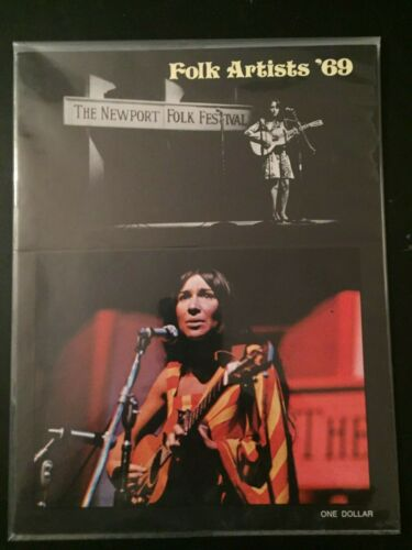Newport Folk Festival Program 1969, Excellent Condition!
