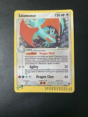 Salamence 10/97 HOLO Rare EX Dragon Pokemon Card E-Reader 2003