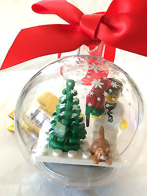 *NEW* Lego Minifig MALE DOCTOR VETERINARIAN Hanging CHRISTMAS ORNAMENT Cat Bird