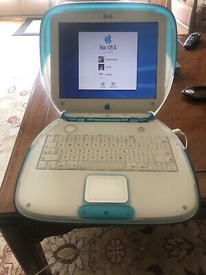 Apple iBook G3 Clamshell Laptop M2453 Blue Power PC 300 Mhz 64MB RAM M7717LL/A