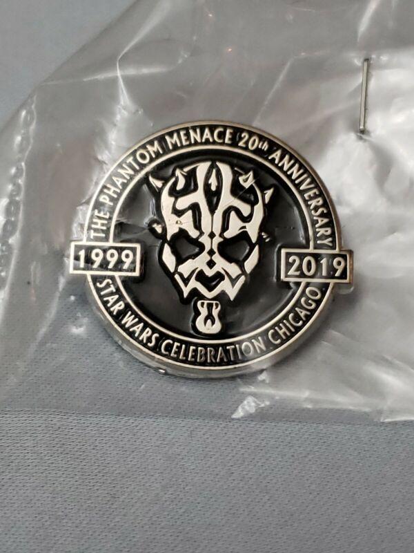 Star Wars Celebration Chicago 2019 EXCLUSIVE Darth Maul 20th Anniversary Pin