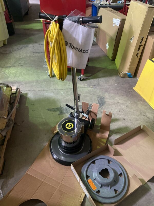 "TORNADO 97590 Floor Scrubber Single Speed 17"" 175 RPM Brush Speed 115V AC @ 60 H"
