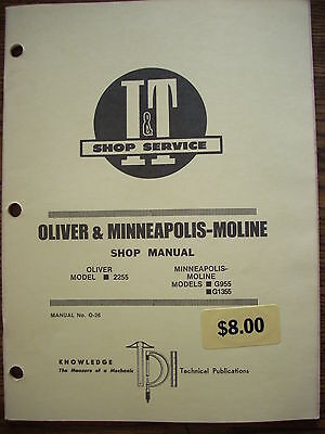 Oliver 2255 Mm Minneapolis Moline G955 G1355 Service Manual