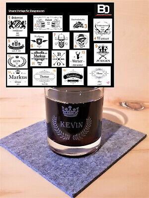 Whiskyglas mit Gravur graviert individuell mit Wunschname personalisierte Gläser